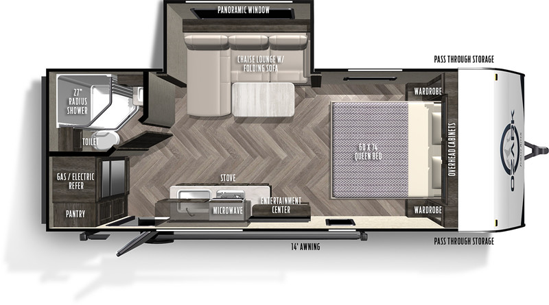 2020 FOREST RIVER OZARK 1800QS floor plan