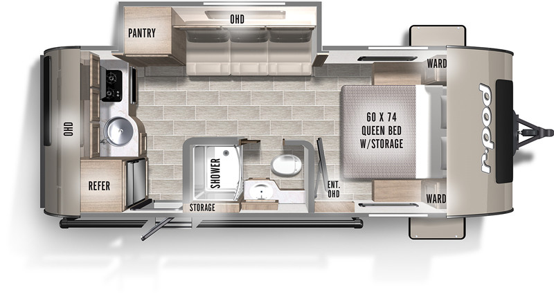 2020 Forest River R Pod 196 floor plan