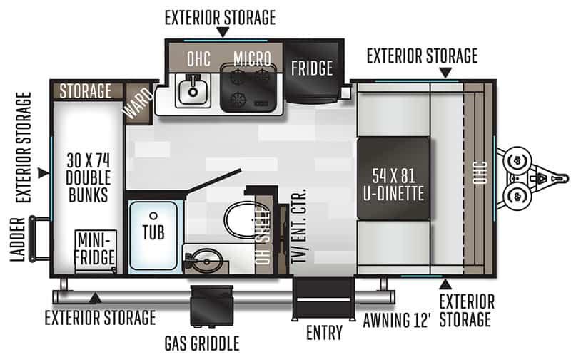 2020 Geo Pro 16BH floor plan