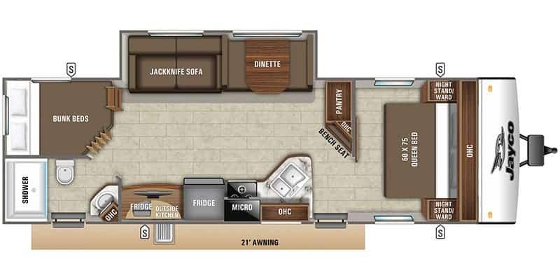 2020 Jayco 27BHB floor plan