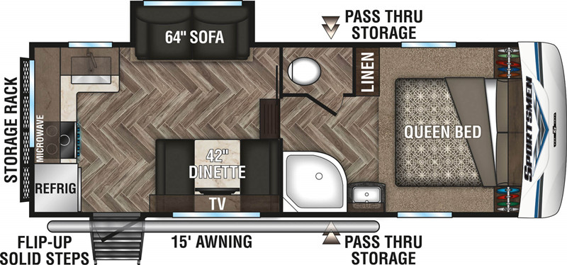 2020 K-Z Sportsmen 231RK floor plan