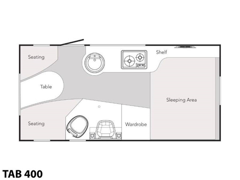 2020 NuCamp T@B 400 floor plan