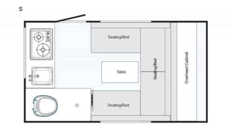 2020 NuCamp T@b 320s floor plan