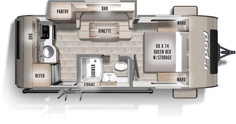 2020 R-Pod 195 floor plan
