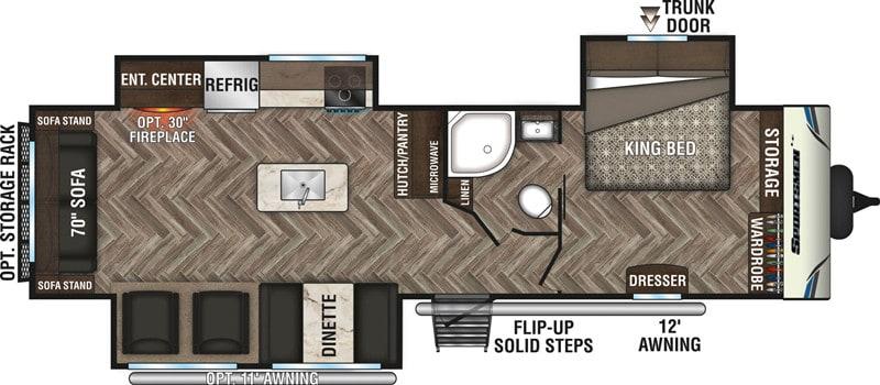 2020 RV KZ Sportsmen LE 303KBLE floor plan