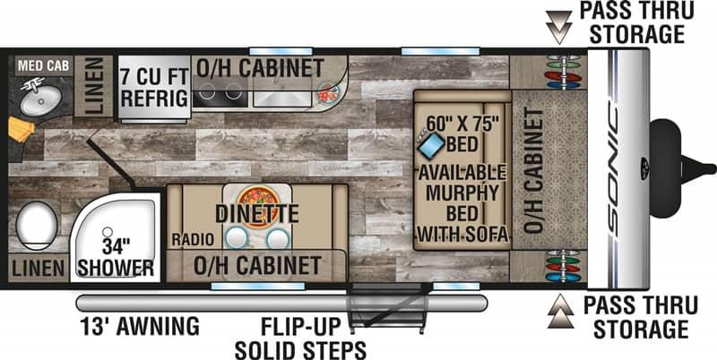 2020 Sonic 190VRB floor plan
