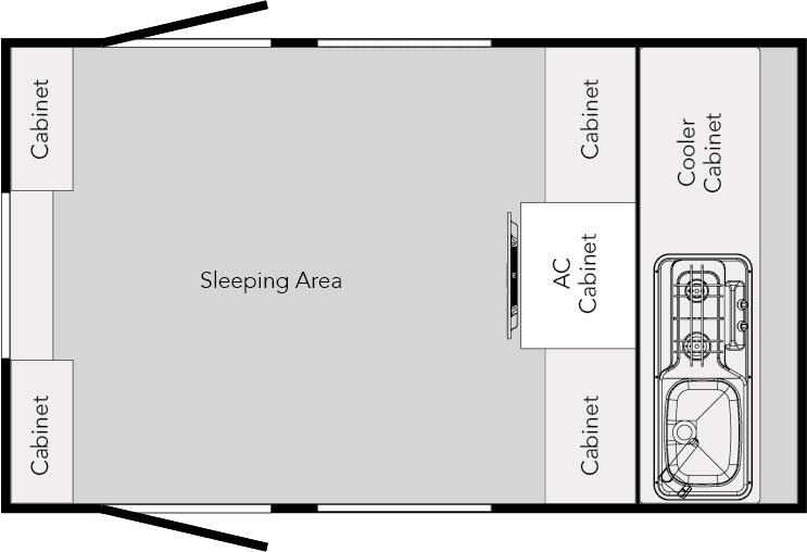 2020 TAG Teardrop Trailer floor plan