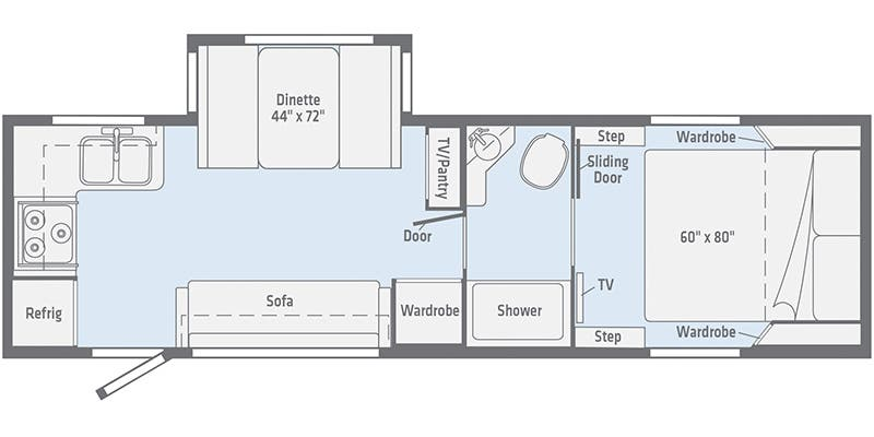 2020 Winnebago Micro Minnie 2405RG floor plan