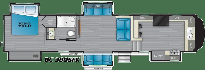 2021 Big Country 3895FK floor plan