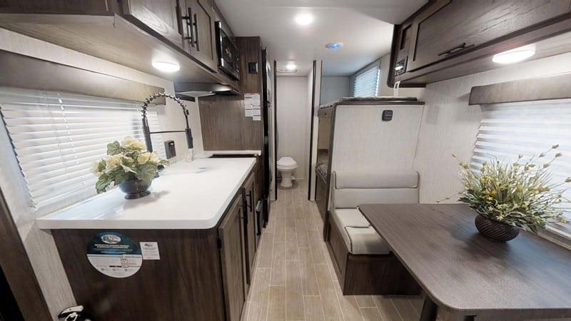 2021 Black Label 16BHS Wolf Pup Bunkhouse Mini Camper interior
