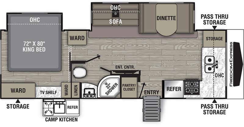 2021 Freedom Express 259FKDS floor plan