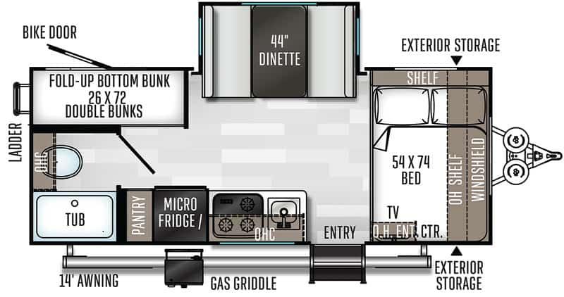 2021 Geo Pro 20BHS floor plan