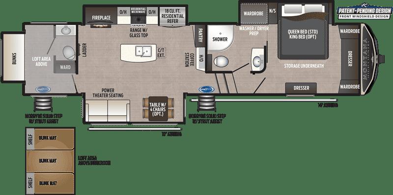 2021 Keystone Montana High Country 335BH floor plan