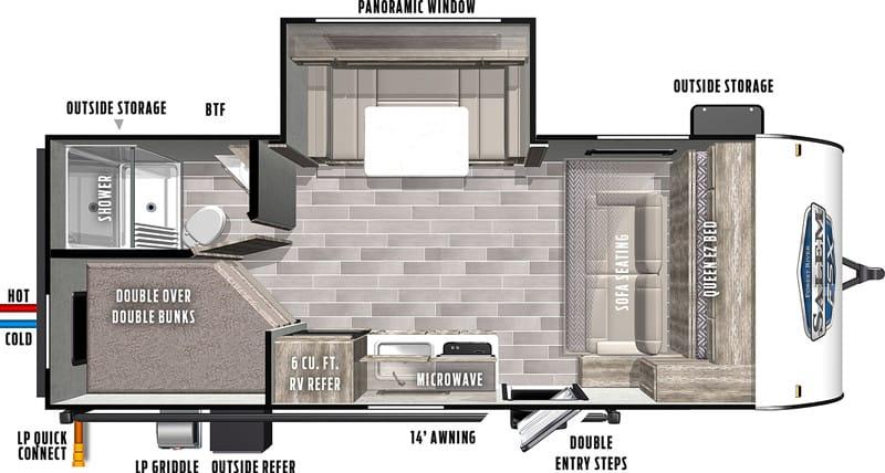 2021 Salem FSX 178BHSKX floor plan