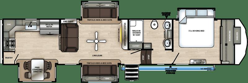 2021 Sierra 39BARK floor plan