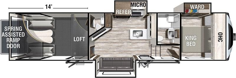 2021 XLR Nitro 351 floor plan