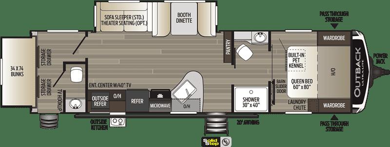 Keystone Outback 301UBH floor plan