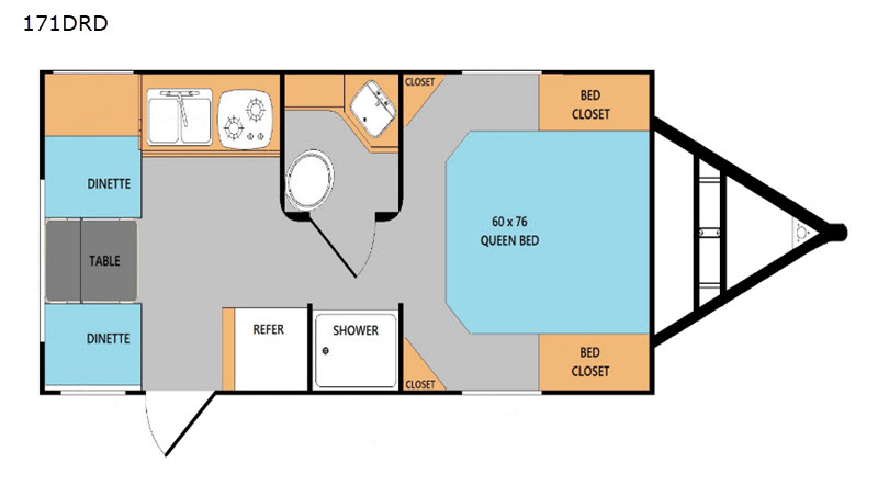 Riverside Retro 171DRD floor plan