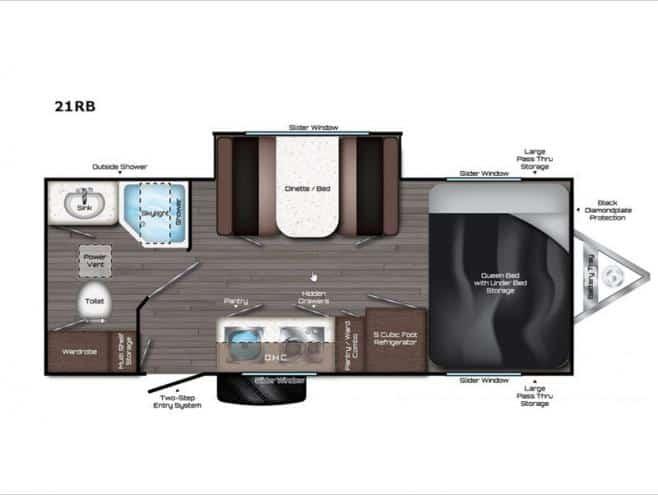 TRAVEL LITE AURA A-21RB floor plan