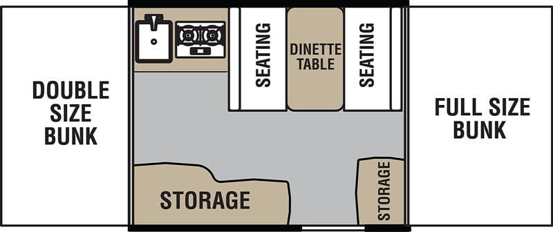 VIKING 1906 Pop Up Camper floor plan