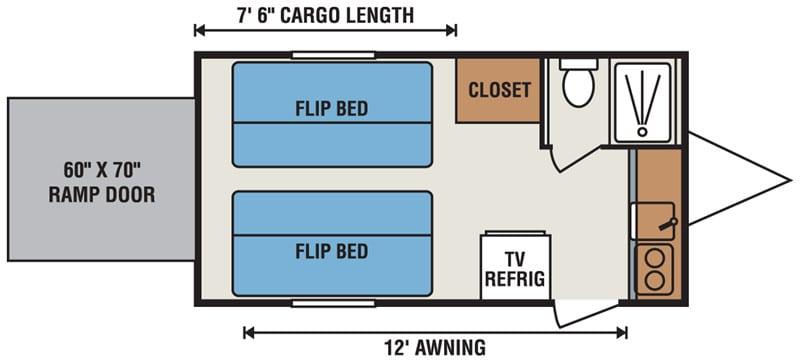 2016 KZ SPORTSMAN CLASSIC 17FKTH floor plan