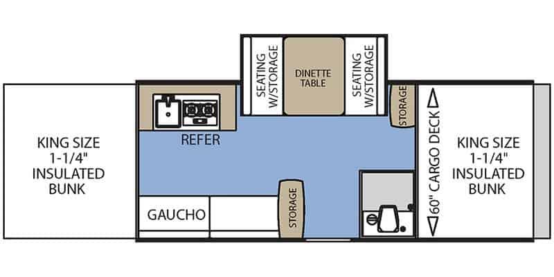 2017 Coachmen Clipper V-TREC V3 floor plan