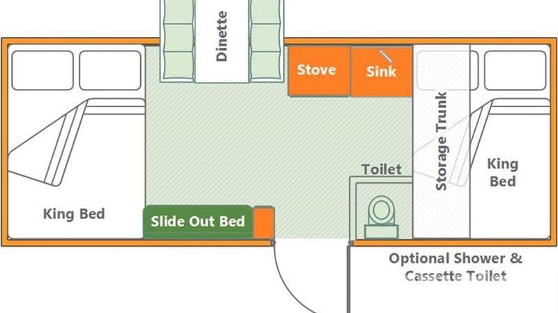 2017 Somerset E3 Box Pop-Up Camper floor plan