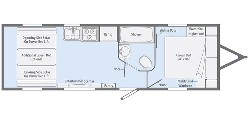 2017 Winnebago Spyder 24FQ floor plan
