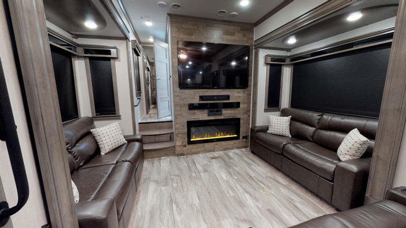 2018 Forest River Riverstone 39FKTH interior