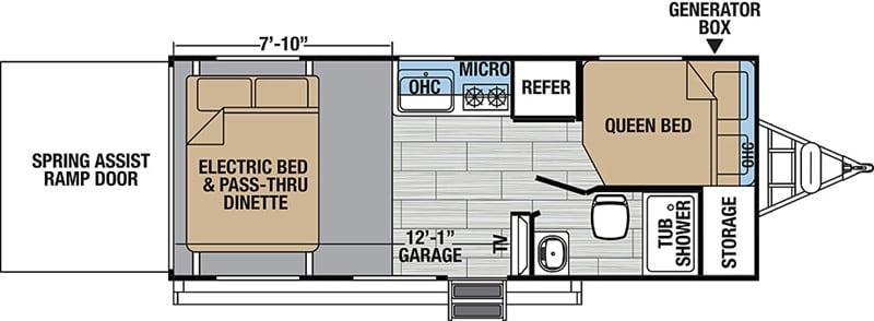 2018 Hyper Lite 19HFS floor plan