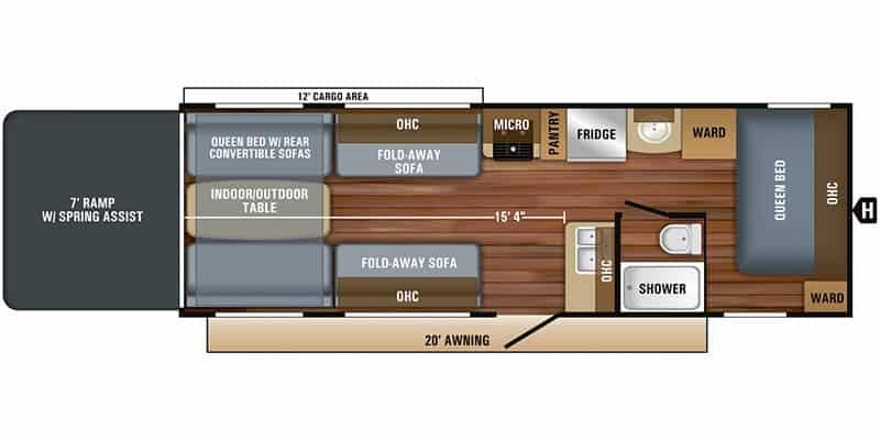 2018 JAYCO 265 OCTANE SL TOY HAULER floor plan