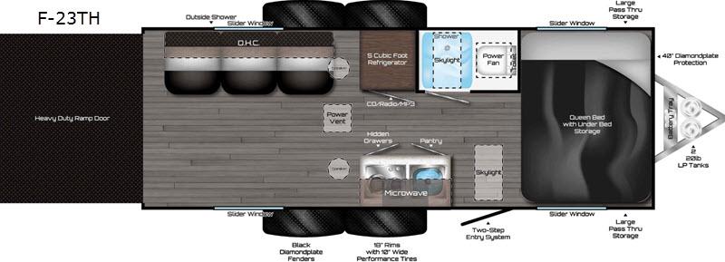 2018 Travel Lite Falcon F-23TH floor plan