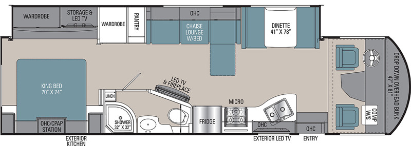 2019 Coachmen Mirada 32SS floor plan