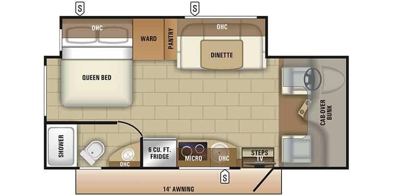 2019 Entegra Coach QWEST 24L floor plan