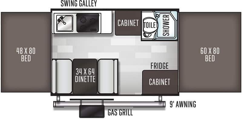 2019 Flagstaff 205MAC floor plan