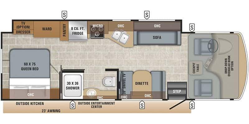 2019 Jayco Alante 29S floor plan