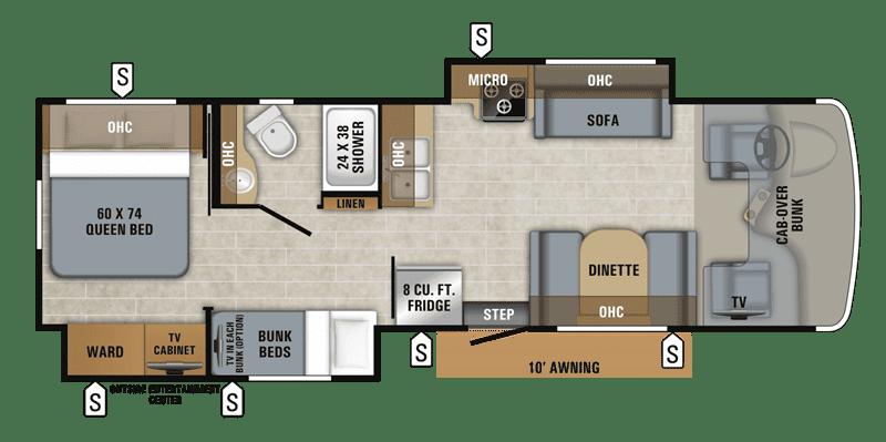 2019 Jayco Greyhawk Prestige 31FSP floor plan