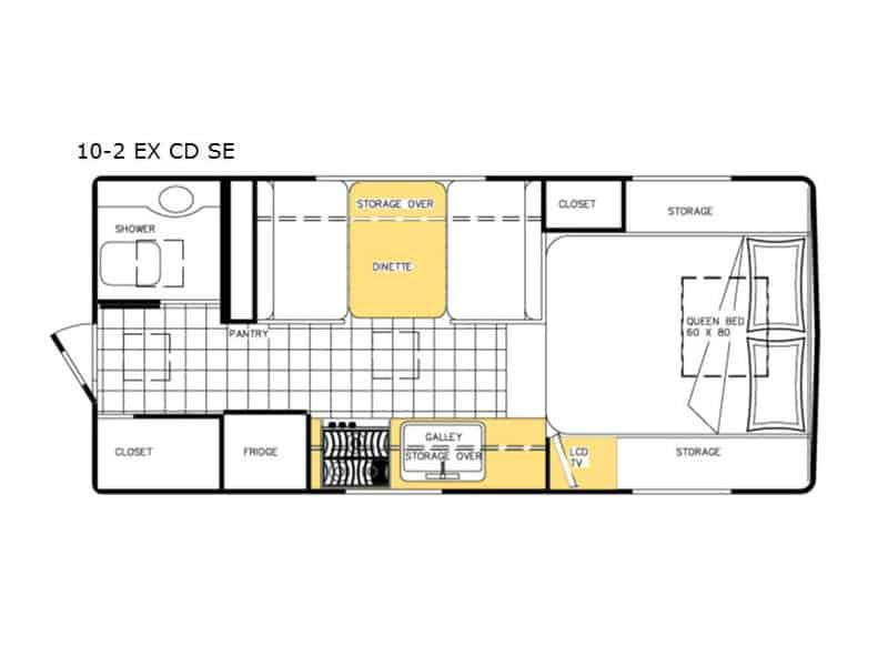 2019 Northern Lite 10'2 EX CD floor plan