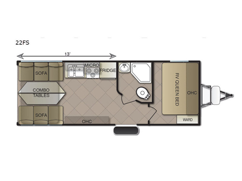 2019 Pacific Coachworks Blaze'n 22FS floor plan