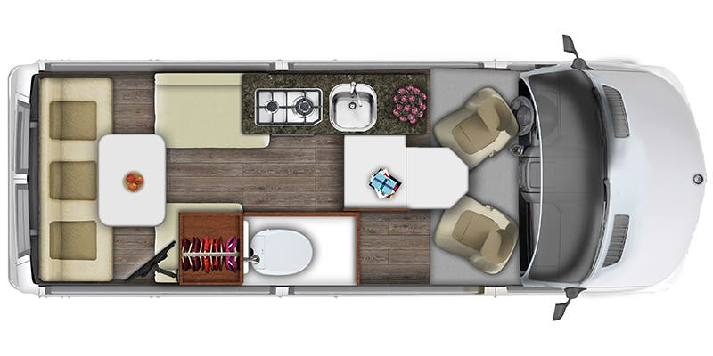 2019 SS Agile By Roadtrek floor plan