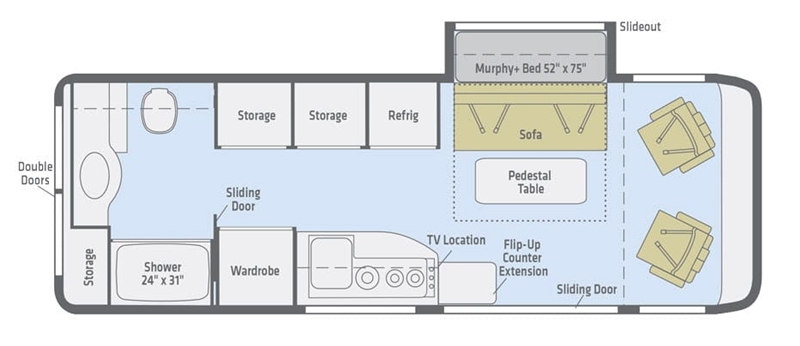2019 Winnebago Era 70M floor plan