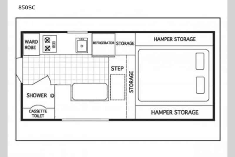 2020 850 SC NorthStar Truck Camper floor plan