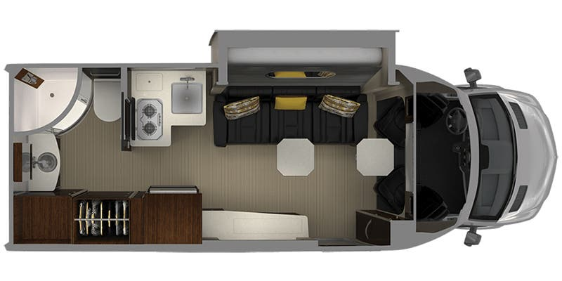 2020 Airstream RV Atlas Murphy Suite floor plan