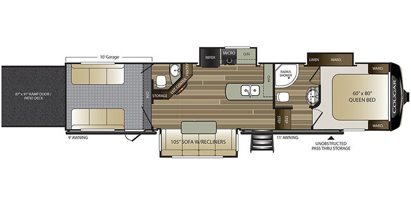 2020 Cougar 353SRX floor plan