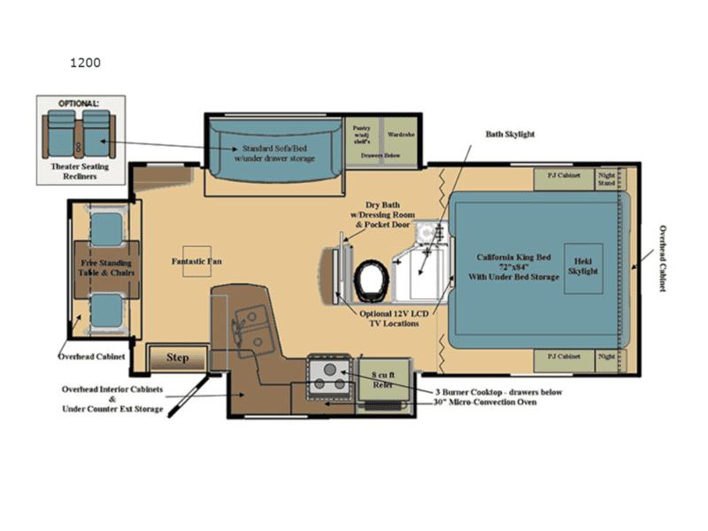 2020 Eagle Cap 1200 floor plan