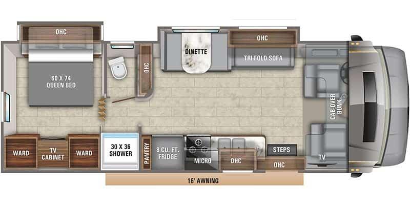 2020 Entegra Coach Esteem 29 V floor plan