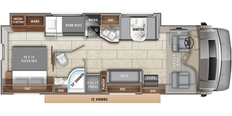 2020 Entegra Coach Odyssey 31F floor plan