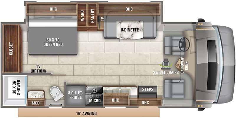 2020 Entegra Odyssey 24B floor plan
