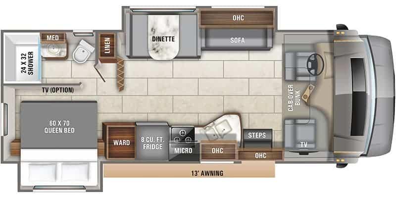 2020 Entegra Odyssey 26D floor plan