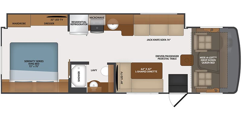 2020 Fleetwood Flair 29M floor plan